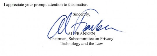 Carrier IQ called out by Senator Al Franken