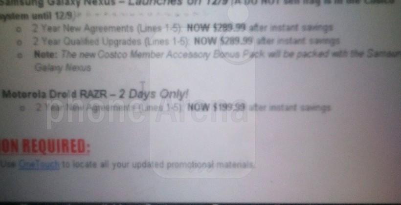$290 Galaxy Nexus tipped as retailers struggle to shave price