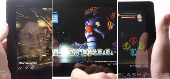 ASUS Transformer Prime hands-on with games Bladeslinger, Glowball, Chidori
