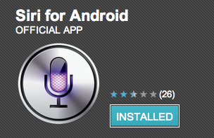 Siri for Android appears on market, just a shortcut at the moment