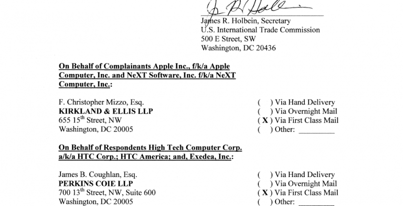ITC rules in favor of Apple, bans HTC devices in US