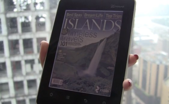Kyobo eReader shows muted mirasol colors but solid video