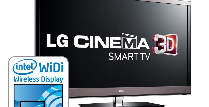 LG adds Intel WiDi to 2012 Cinema 3D Smart TVs