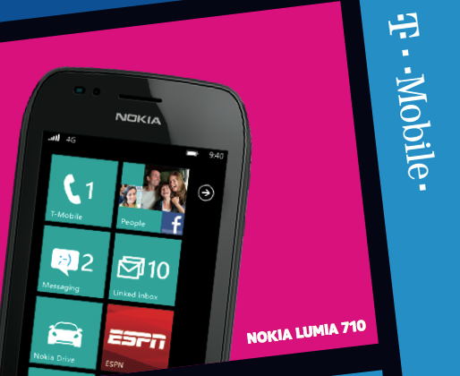 Nokia Lumia 710 revealed for T-Mobile, Mango included