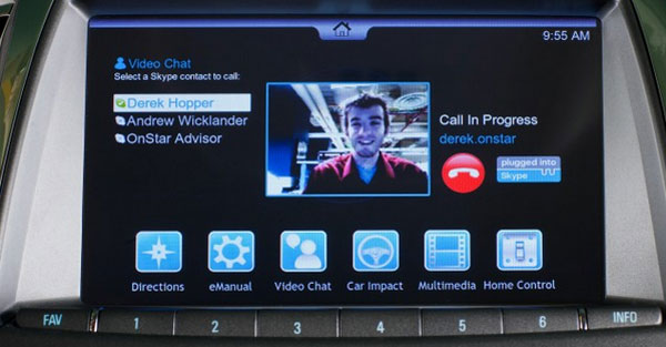 OnStar shows off in-car video chat and video streaming
