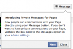 Facebook testing private messaging for Facebook Pages