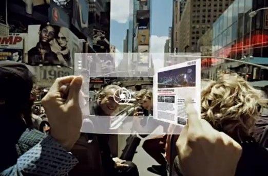 Samsung flexible tablet concept shows transparent future