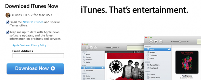 iTunes 10.5.2 update brings CD audio distortion fix and more