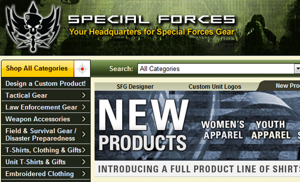 Anonymous hacks online military gear supplier