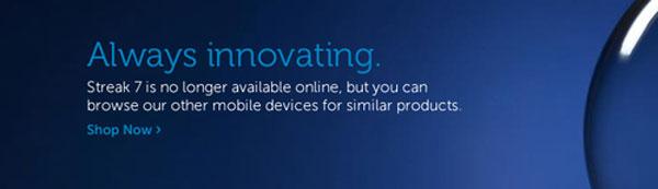 Dell Streak 7 discontinued