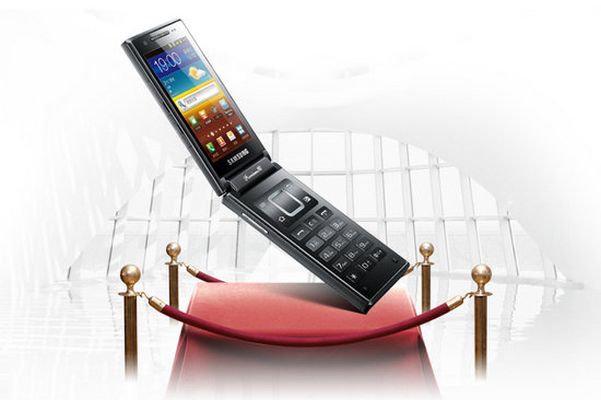 Samsung W999 Android clamshell official, like a GSII with a gigantic keypad