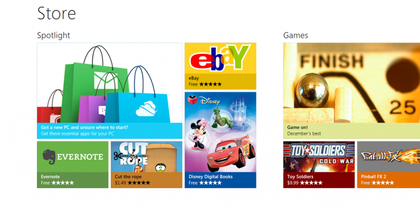 Windows Store for Windows 8 detailed