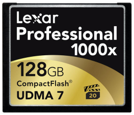 Lexar touts first 1000x CompactFlash memory card