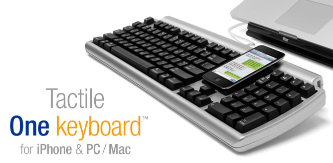 Matias Tactile One Keyboard for your iPhone, Mac, and PC