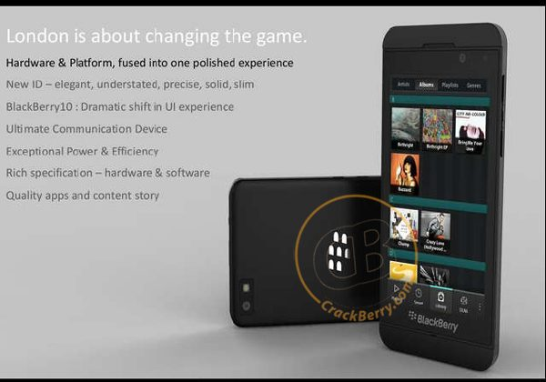 BlackBerry 10 Smartphone press photos leaked