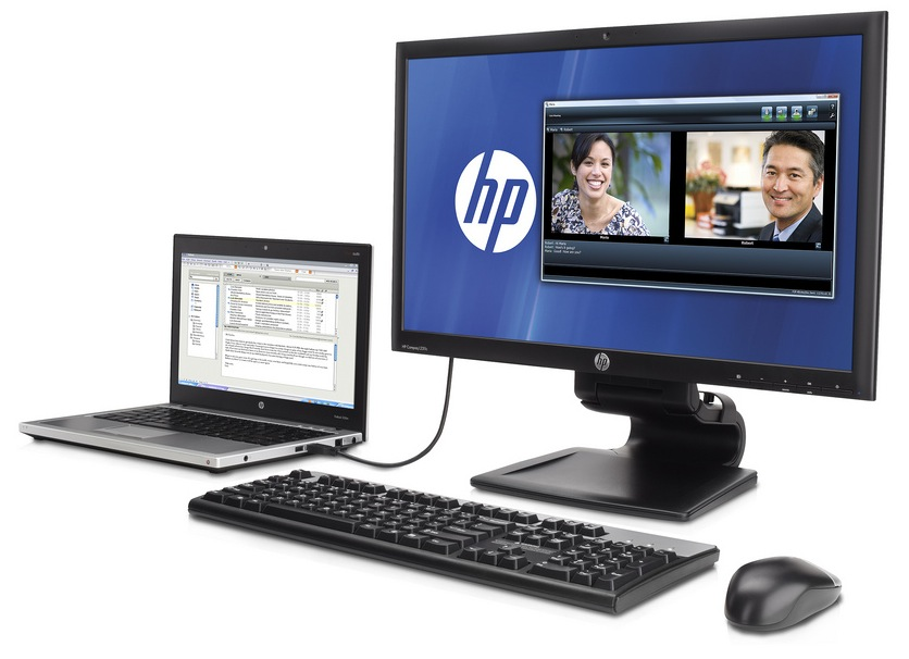 HP L2311c 23-inch USB 3 0 Notebook Docking Monitor revealed