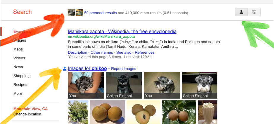 Google Search plus Your World pulls Google+ into results