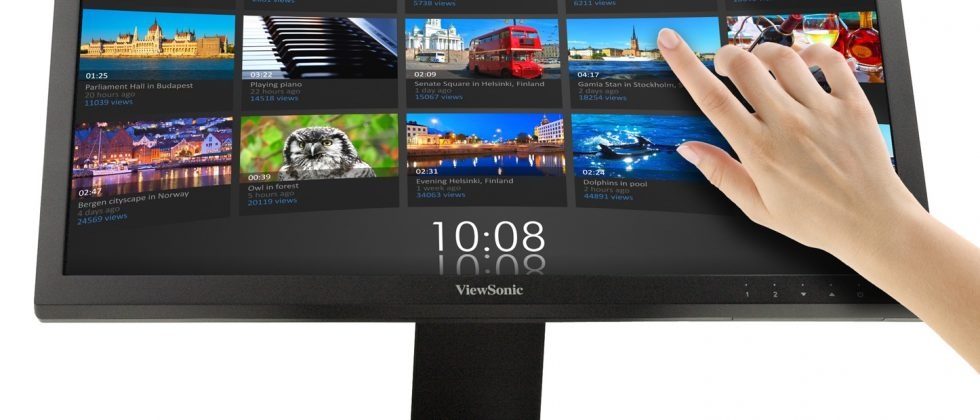 ViewSonic touchscreen wirelessly links to your phone or tablet
