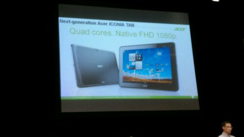 Acer teases 1080p quadcore Iconia Tab A700