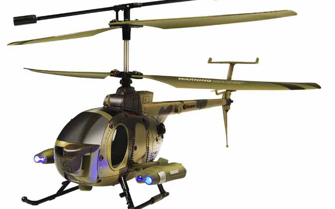 Swann RC helicopters with iPhone controls, mounted cameras released