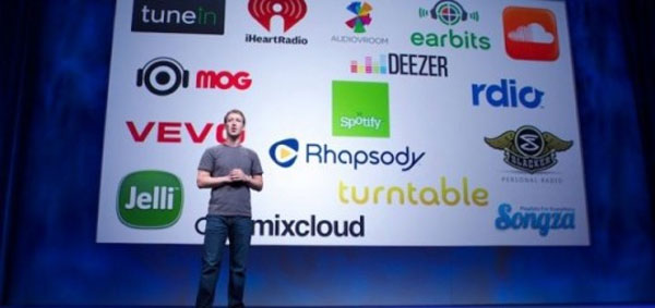 Facebook says over 5 billion songs shared and talks frictionless sharing