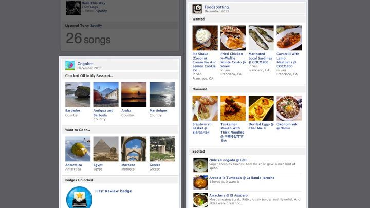 Facebook Timeline Apps spreads Open Graph to travel, food, more