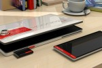 Fujitsu LIFEBOOK2013 concept docks tablet, phone & camera in laptop