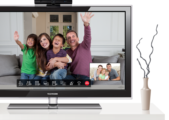 Skype joins telyHD for HDTV video chat in your living room