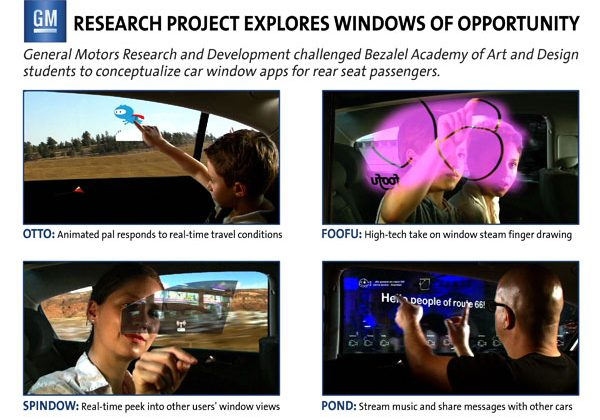 GM interactive windows concept bring fun to road trips