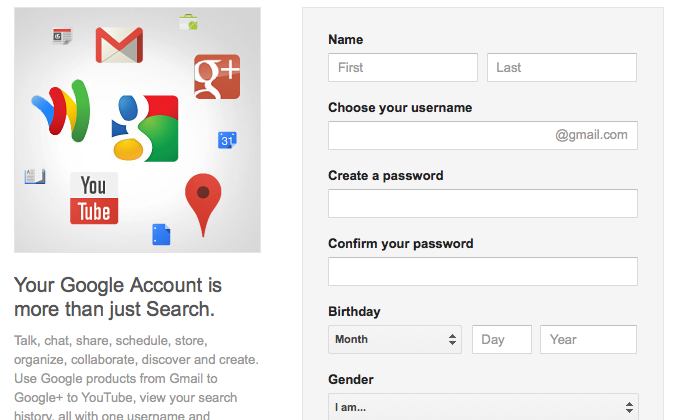 Google pushing Google+ and Gmail on new sign-ups