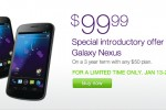 TELUS Galaxy Nexus only $99, available today