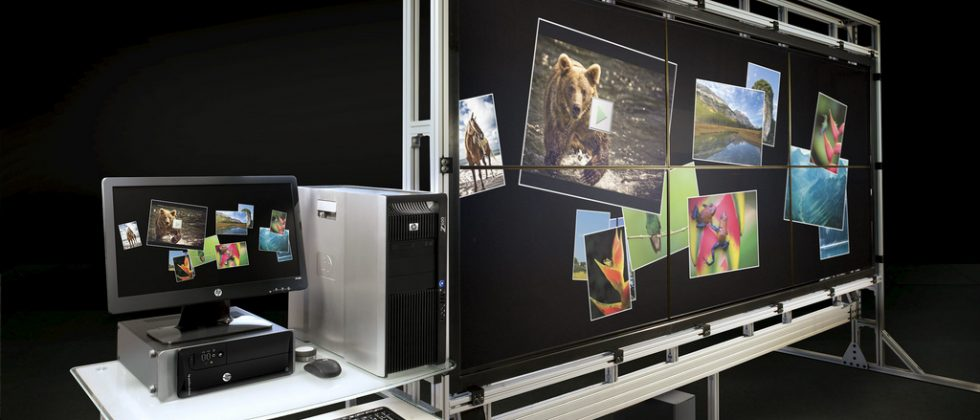 HP VantagePoint is 132-inches of multitouch for your wall