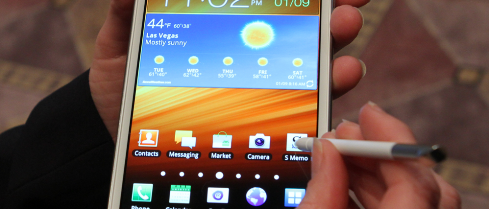 AT&T Samsung Galaxy Note LTE in white hands-on