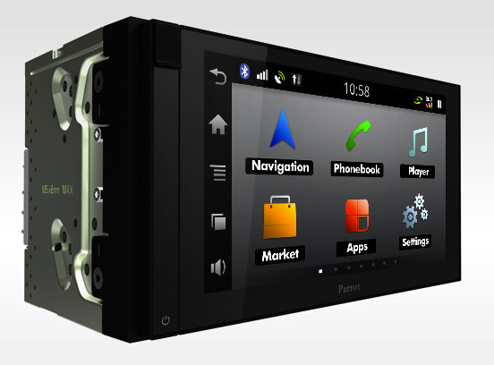 Parrot Asteroid in-car Nav & Entertainment systems revealed