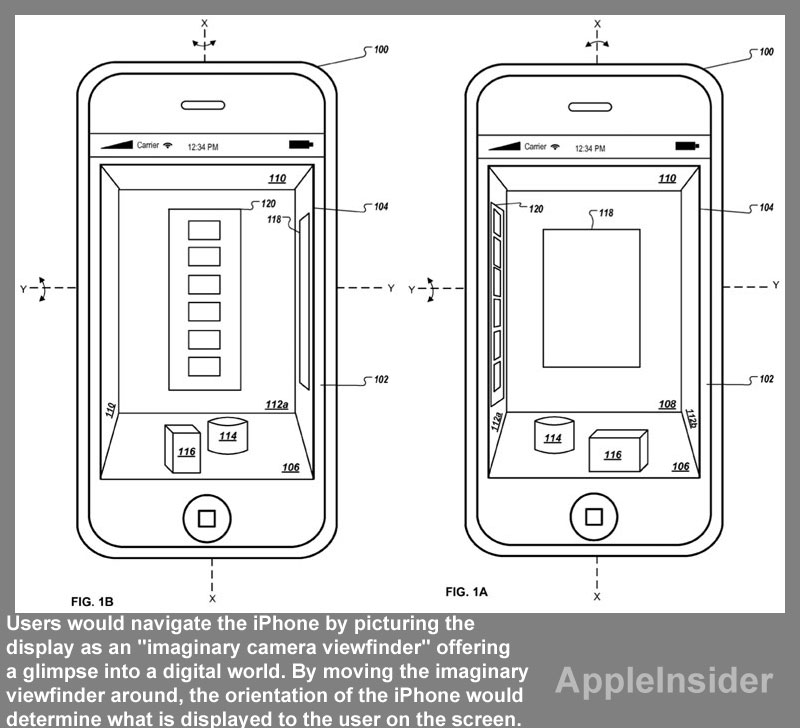 Apple exploring motion-controlled 3D GUI for iOS