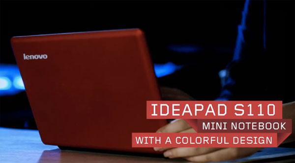 Lenovo shows off IdeaPad S110 packing Intel Cedar Trail