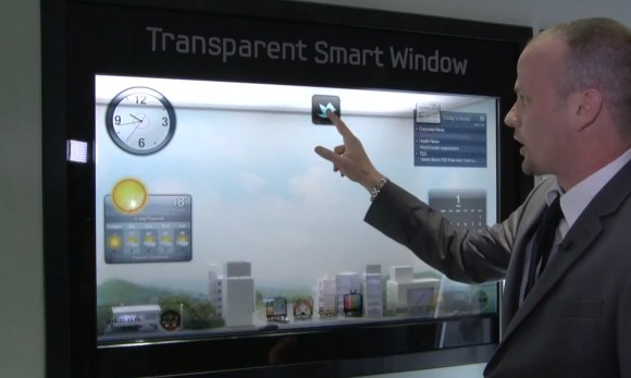 Samsung Transparent Smart Window floats Twitter over your garden
