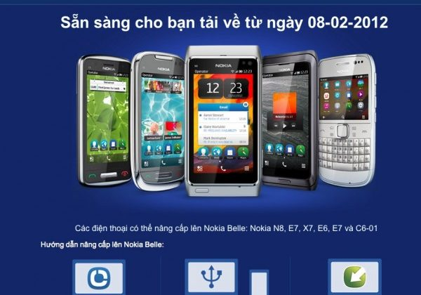 Nokia Belle upgrade on Feb 8 2012 tips yanked site