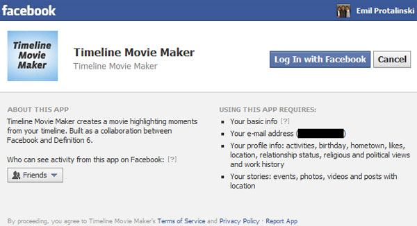Facebook Timeline Movie Maker makes a movie out of your content