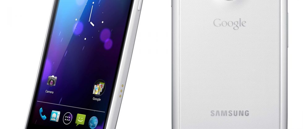 White Galaxy Nexus pictured
