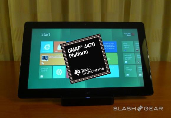 TI to demo Windows 8 on OMAP 4470