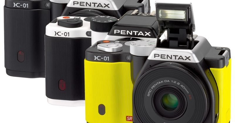 Pentax K-01 pairs K-mount DSLR lenses with compact body