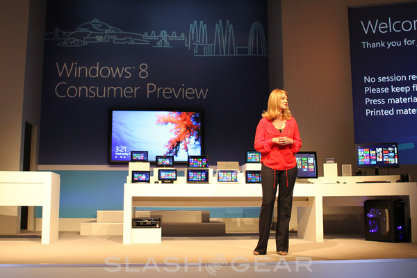 Windows 8 previewed on a bevy of Consumer PCs