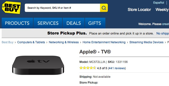 Apple TV refresh imminent suggests broad stock shortages