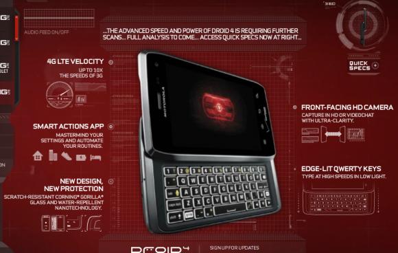 Motorola Droid 4 will launch February 10: report