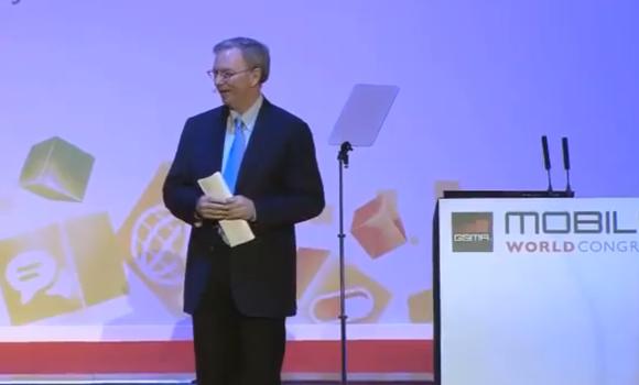 Google Chairman Eric Schmidt's full MWC 2012 keynote video