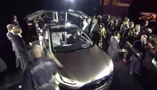 Tesla Model X all-electric crossover unveiled and detailed