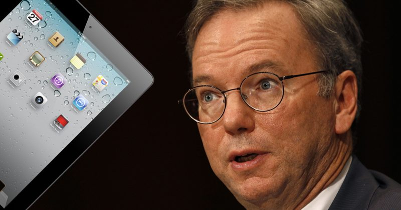Will Apple snipe down Google's Schmidt with iPad 3?