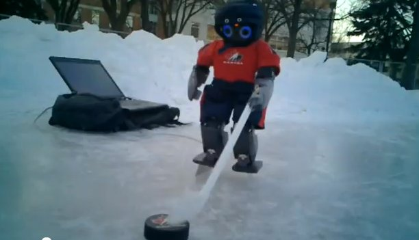 Scientists create hockey-playing robot, in Canada of course