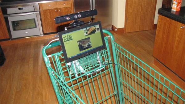 Whole Foods prototype shopping cart uses Kinect